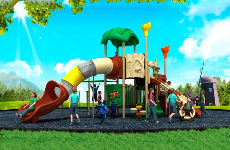Parques infantiles bosque serie