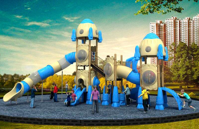 Parques infantiles cohetes serie