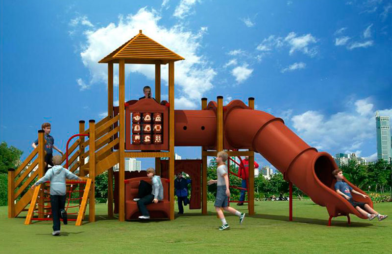 Parques infantiles madera y pe serie